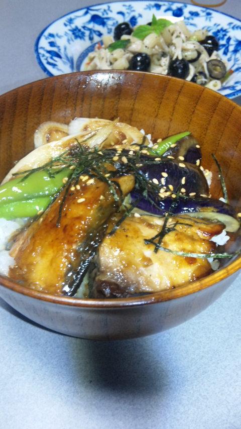金目鯛とぶりの蒲焼き丼