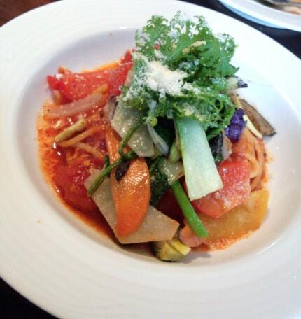 地元野菜のパスタ