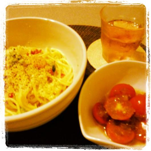 夕食は簡単に(^_^;)