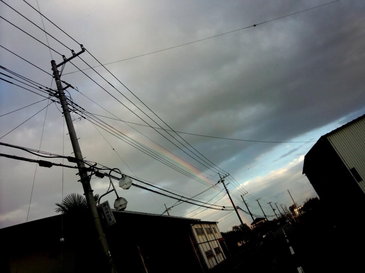 虹と昨夜のこと